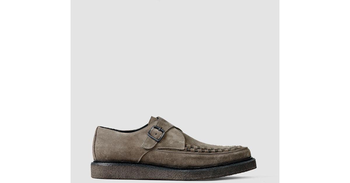 92f249909b3 AllSaints Arc Shoe in Brown for Men - Lyst