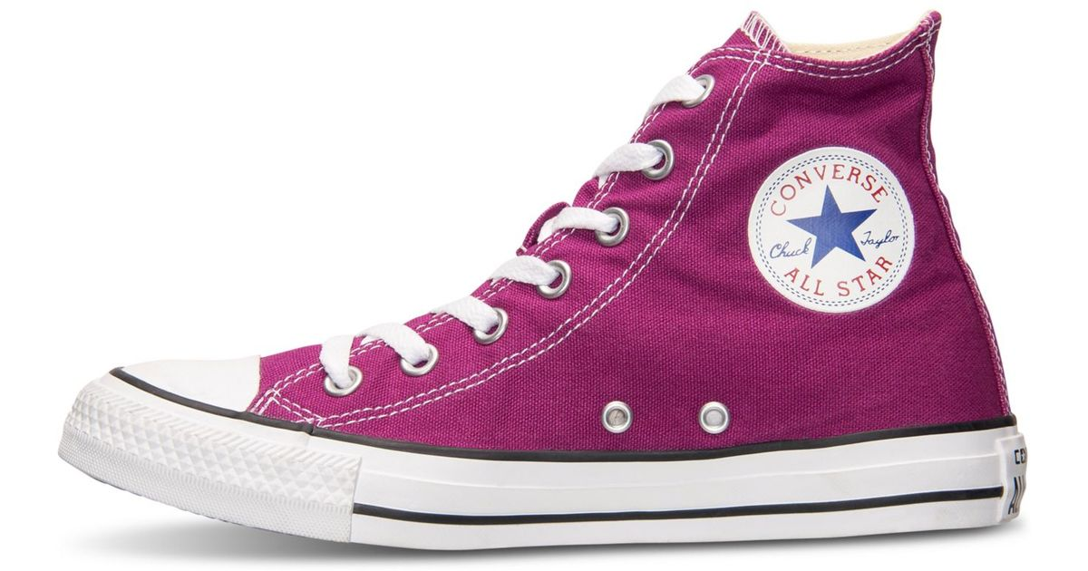 4afee92091fc Lyst - Converse Chuck Taylor All Star High-top Sneaker - Pink Sapphire in  Pink