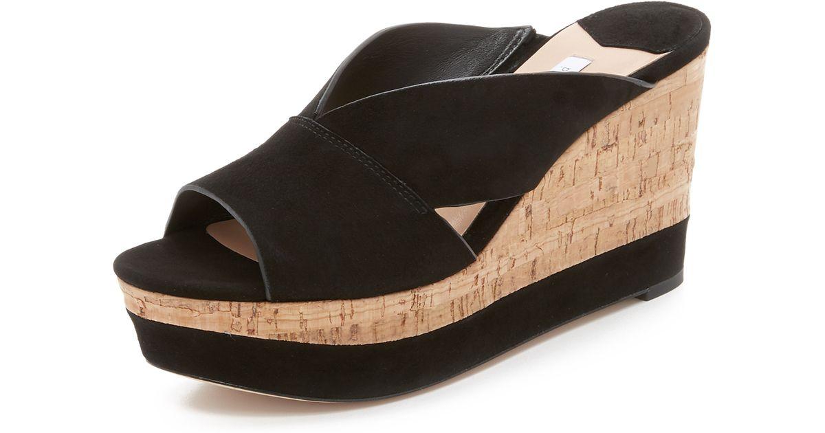 Furstenberg Monaco Wedge Sandals Diane Von Black 76gbfy