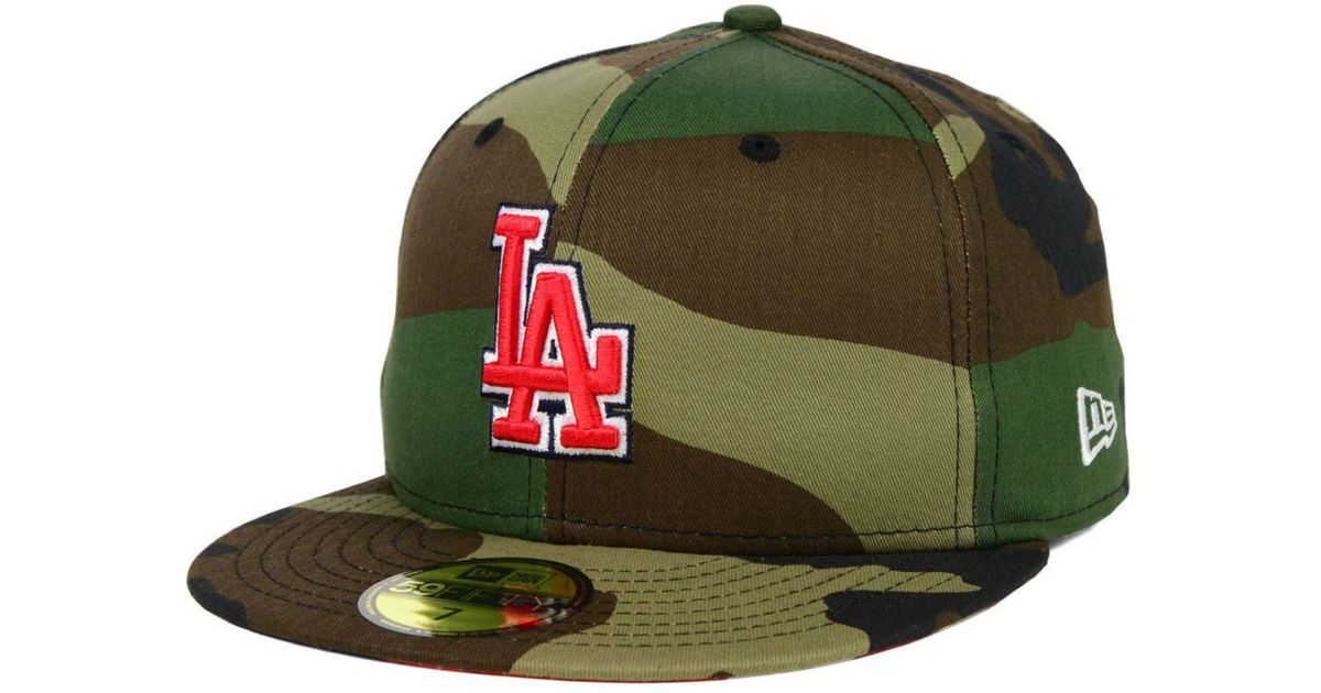 various colors 2bd2b 3c6a1 ... lyst ktz los angeles dodgers under woodland 59fifty cap in green for men