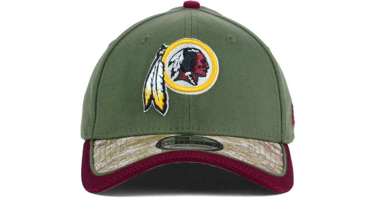 6ac49a0df Lyst - KTZ Washington Redskins Salute To Service 39Thirty Cap in Green for  Men