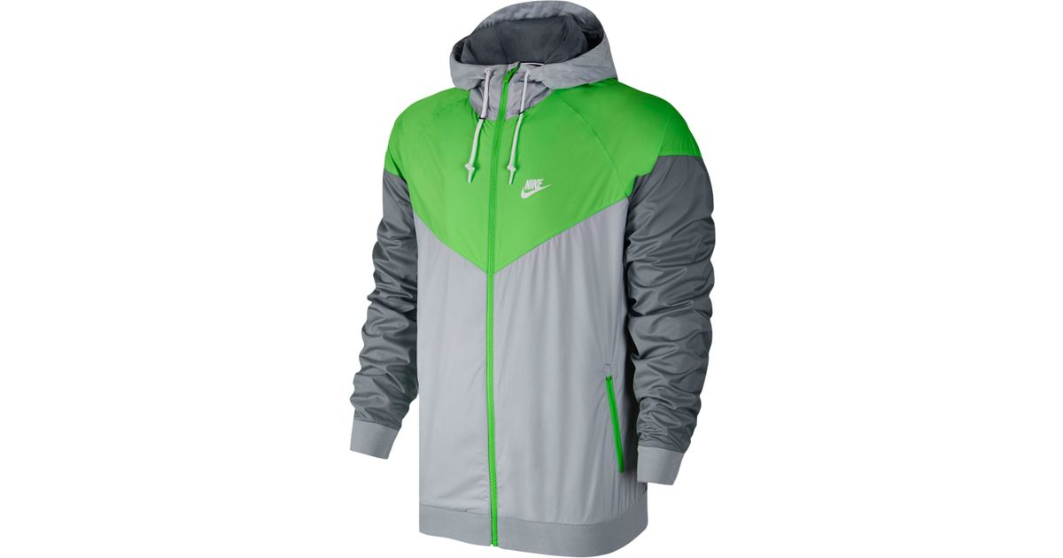 6a1a94788c Lyst - Nike Men s Windrunner Colorblocked Jacket in Gray for Men