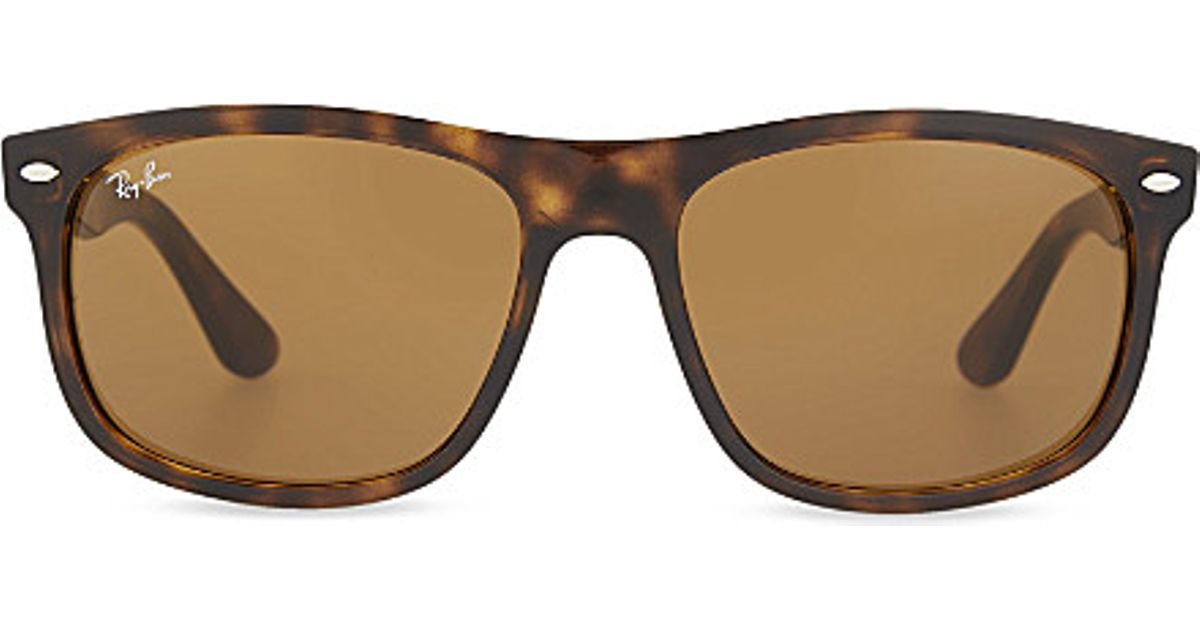 5aed48941 Lyst - Ray-Ban Rb4226 Tortoise Shell Rectangle Sunglasses in Brown