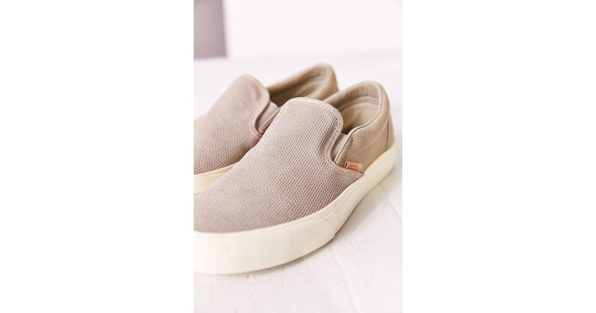 98fef82bad Lyst - Vans Classic Knit Suede Slip-on Women s Sneaker in Gray