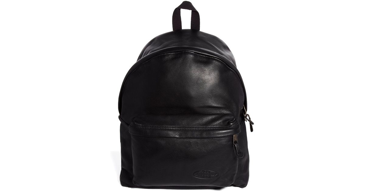 78877a427 Eastpak Padded Pak'R Leather Backpack in Black for Men - Lyst