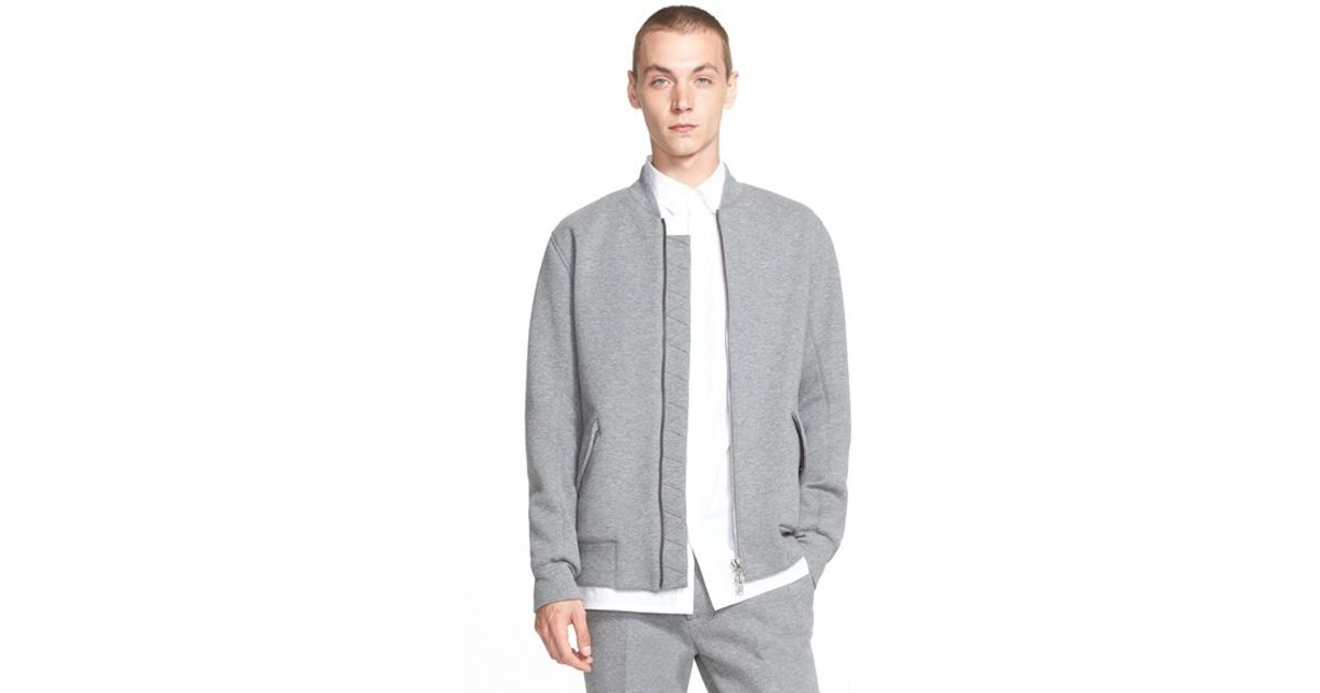 1a5b78bd1 Helmut Lang Gray Knit Bomber Jacket for men