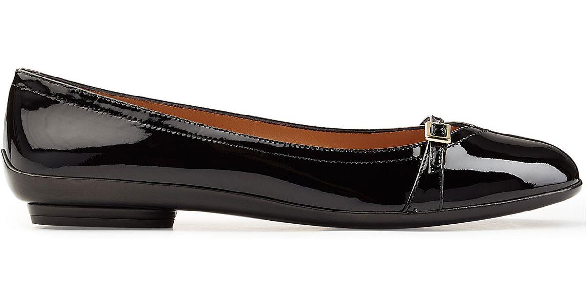 Salvatore Ferragamo Mary Jane Black Flats Shoes