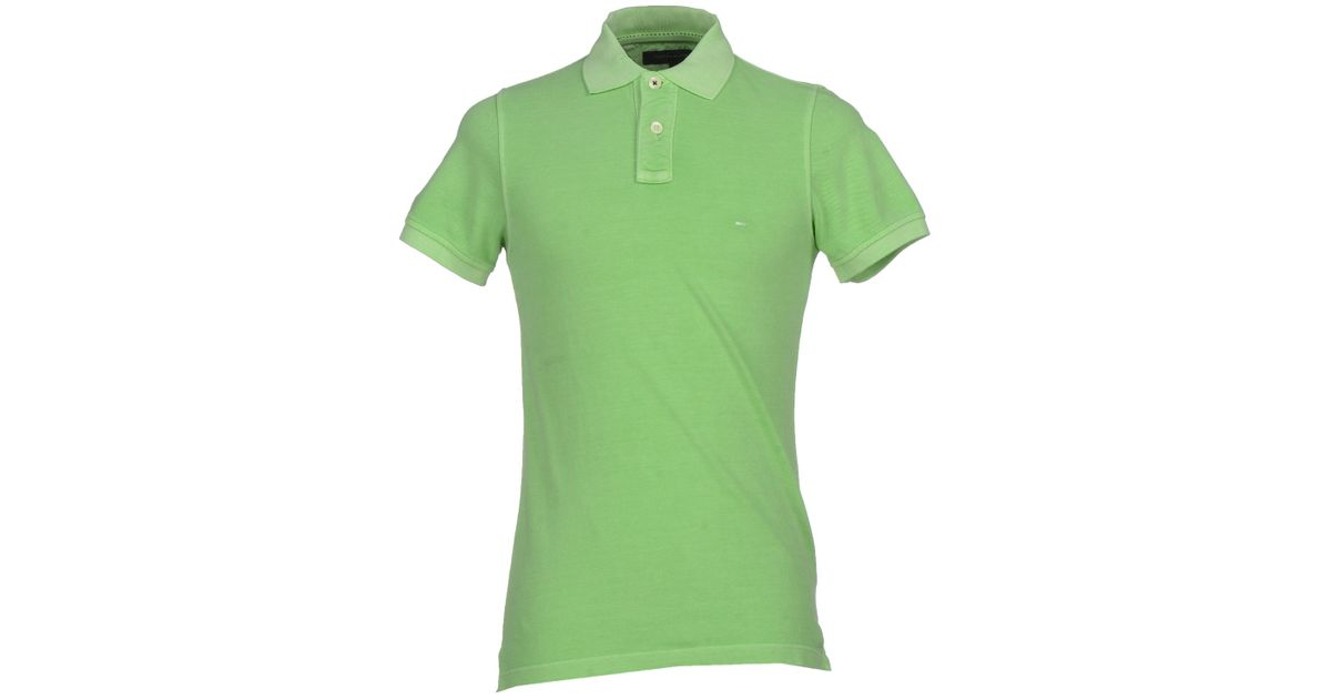 tommy hilfiger polo shirt in green for men lyst. Black Bedroom Furniture Sets. Home Design Ideas