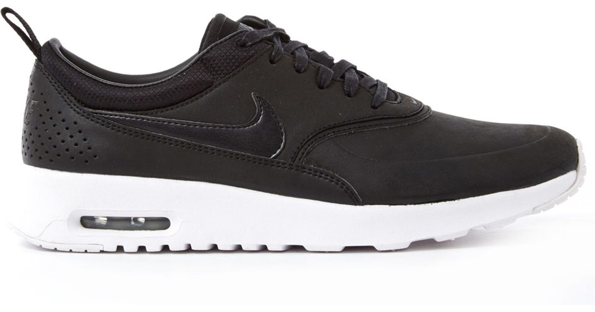 1c376abf9ae6 Nike Black Air Max Thea Premium Leather Trainers in Black - Lyst