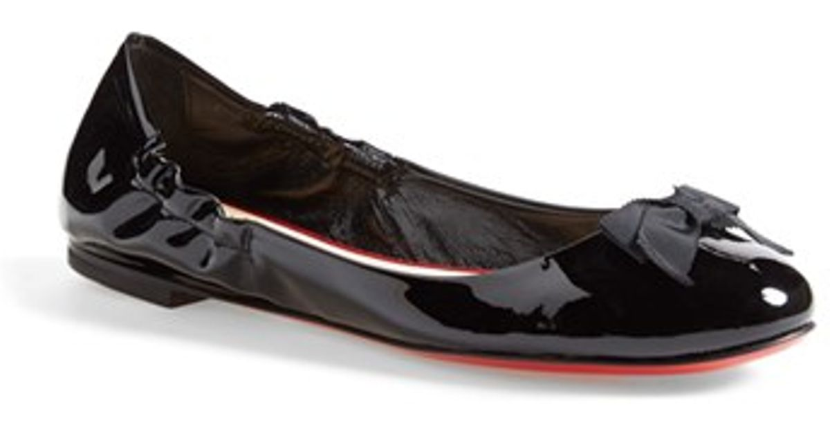 buy popular c09a5 7d1dd Christian Louboutin Black 'gloriana' Ballet Flat