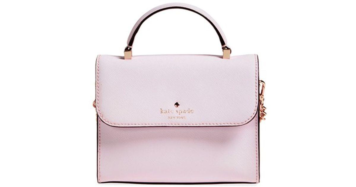 6baf03c6d822 Lyst - Kate Spade Cedar Street - Mini Nora Leather Crossbody Bag in Pink