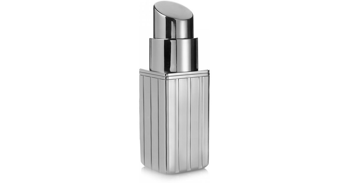 discount price top quality highly coveted range of Lulu Guinness Metallic Silver Mirror Perspex Lipstick Clutch