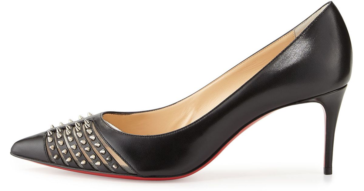 christian louboutin baretta studded red sole pump