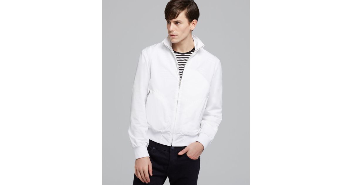 Burberry Brit Bradford Lightweight Jacket in White for Men | Lyst