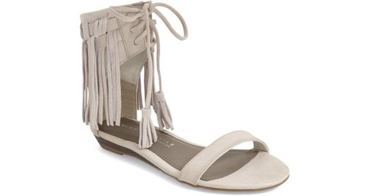 5db37a621 Lyst - Very Volatile  aubrey  Fringe Lace-up Sandal in Gray