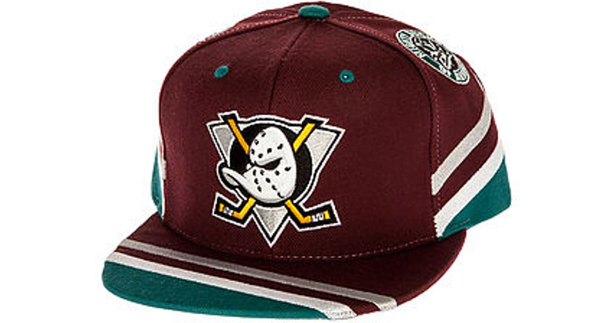 0d736f86c4bbc ... where can i buy lyst mitchell ness the mighty ducks team jersey stripe snapback  hat in