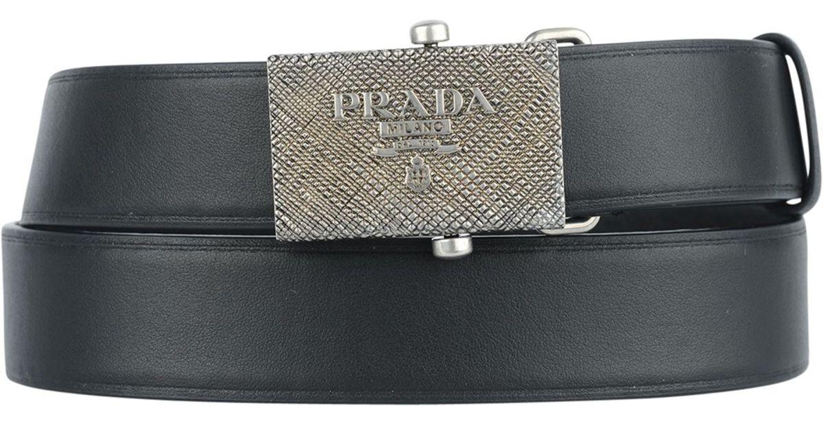 Prada 1cm034 Cintura in Silver (Nero)   Lyst