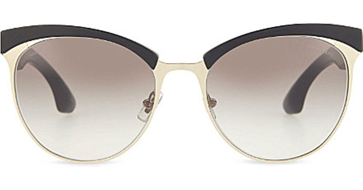 e713f954a9cf Miu Miu Smu 54q Stardust Sunglasses in Metallic - Lyst