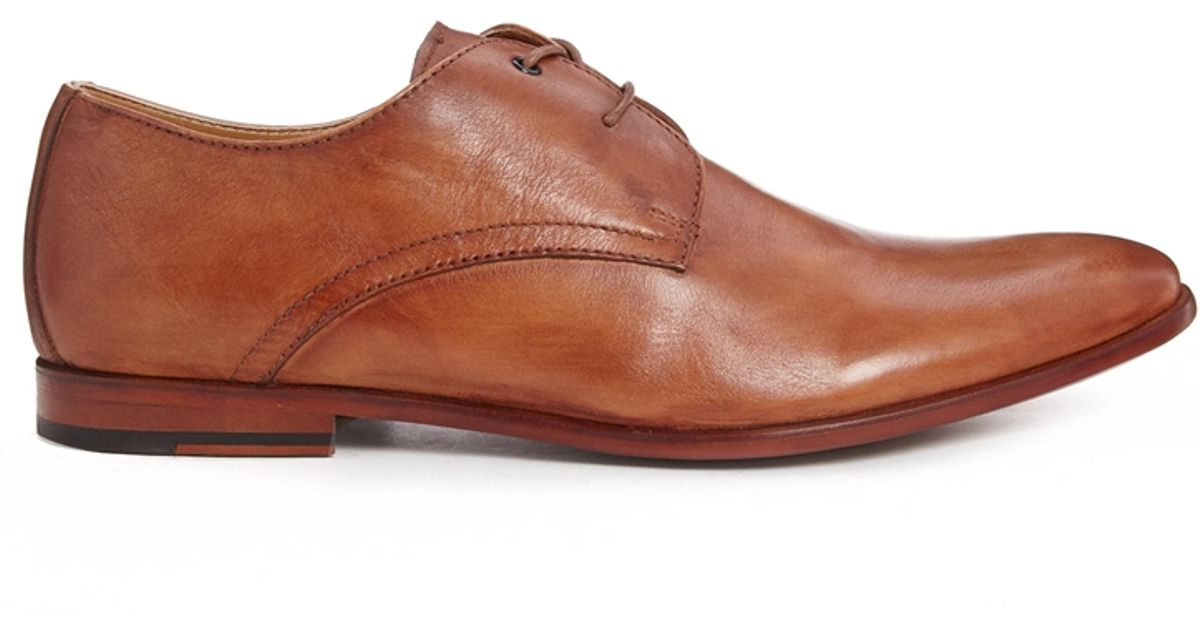 Aldo Andrews Leather Derby Shoes In Brown For Men Lyst