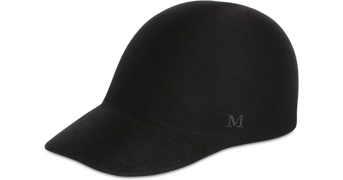 d9224bf449b Lyst Maison Michel Beaver Fur Felt Baseball Hat In Black For Men