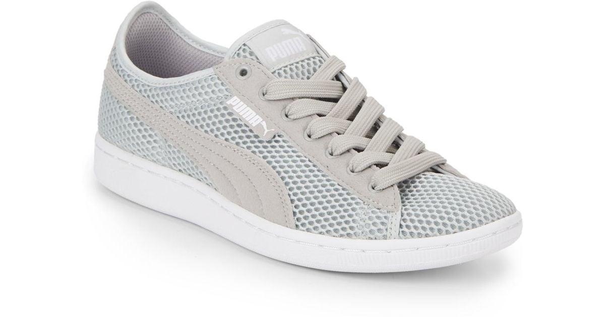 PUMA Vikky Mesh Sneakers in Grey (Gray