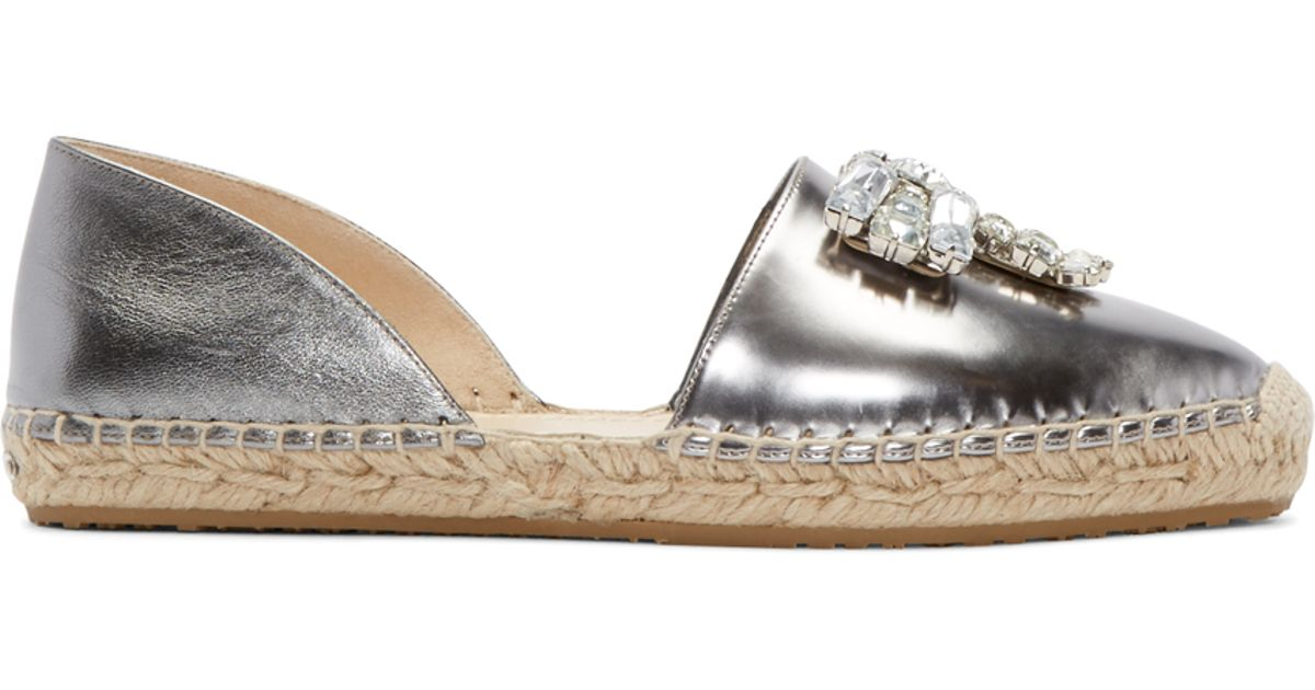 Jimmy chooTextured Leather Espadrille