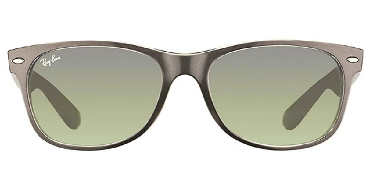345e101f20c Lyst - Ray-ban Rb 2132 614371 Brushed Gunmetal On Transparent Plastic  Sunglasses-52mm in Gray