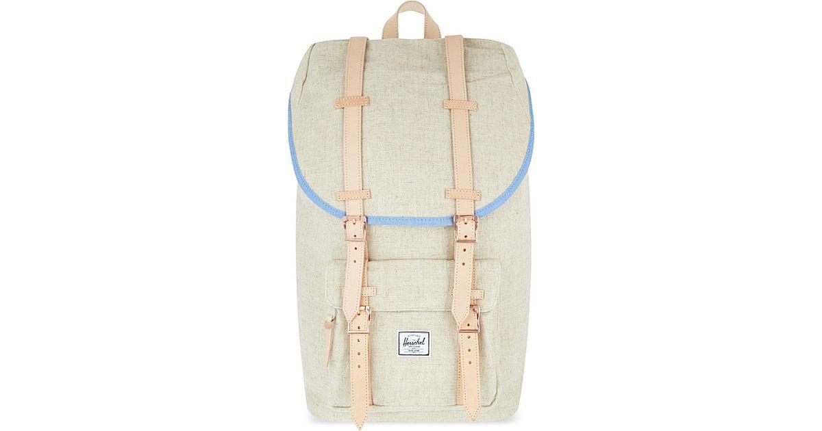 5d80bd195470 Herschel Supply Co. Little America Hemp Backpack - For Women in Natural -  Lyst
