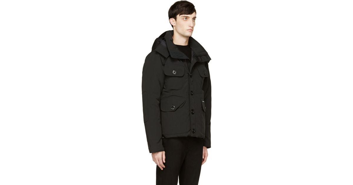 Canada goose Black Down Selkirk Parka in Black for Men | Lyst