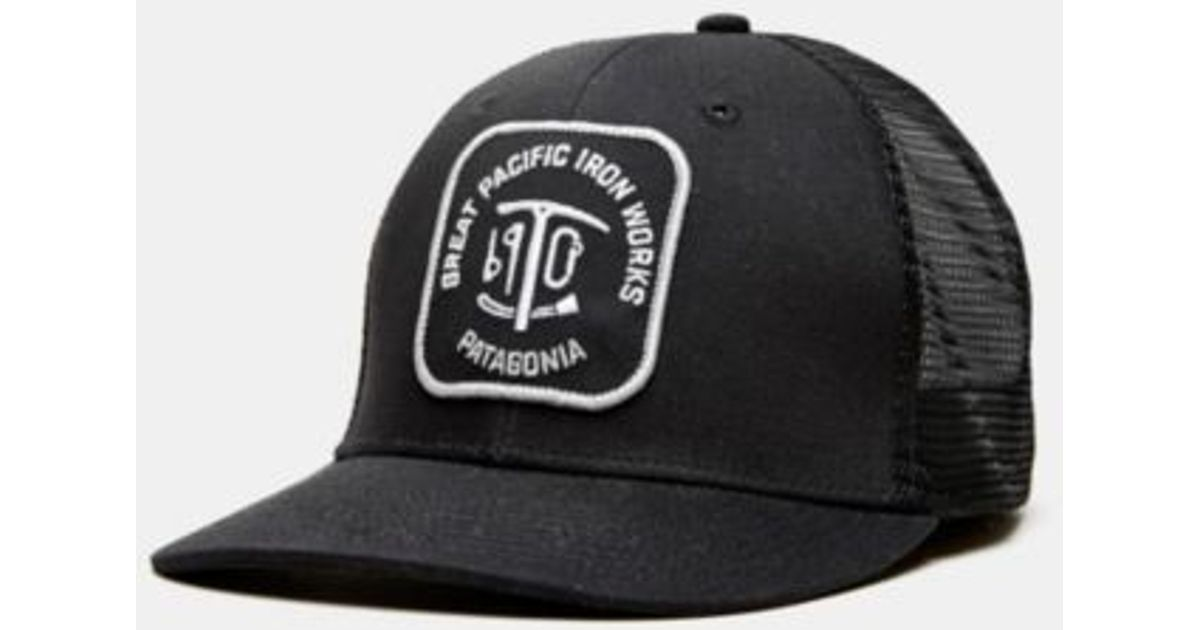 Lyst - Patagonia Great Pacific Iron Works Trucker Hat in Black for Men 7e19cf17750