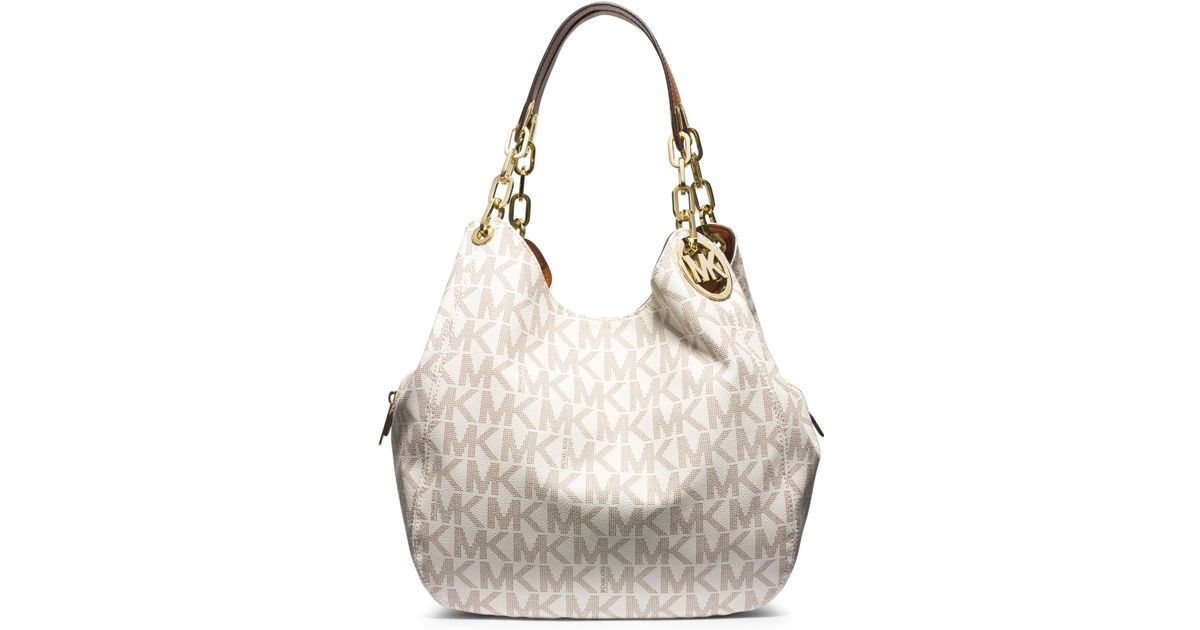 aed64ef64a9a Michael Kors White Fulton Large Logo Shoulder Bag