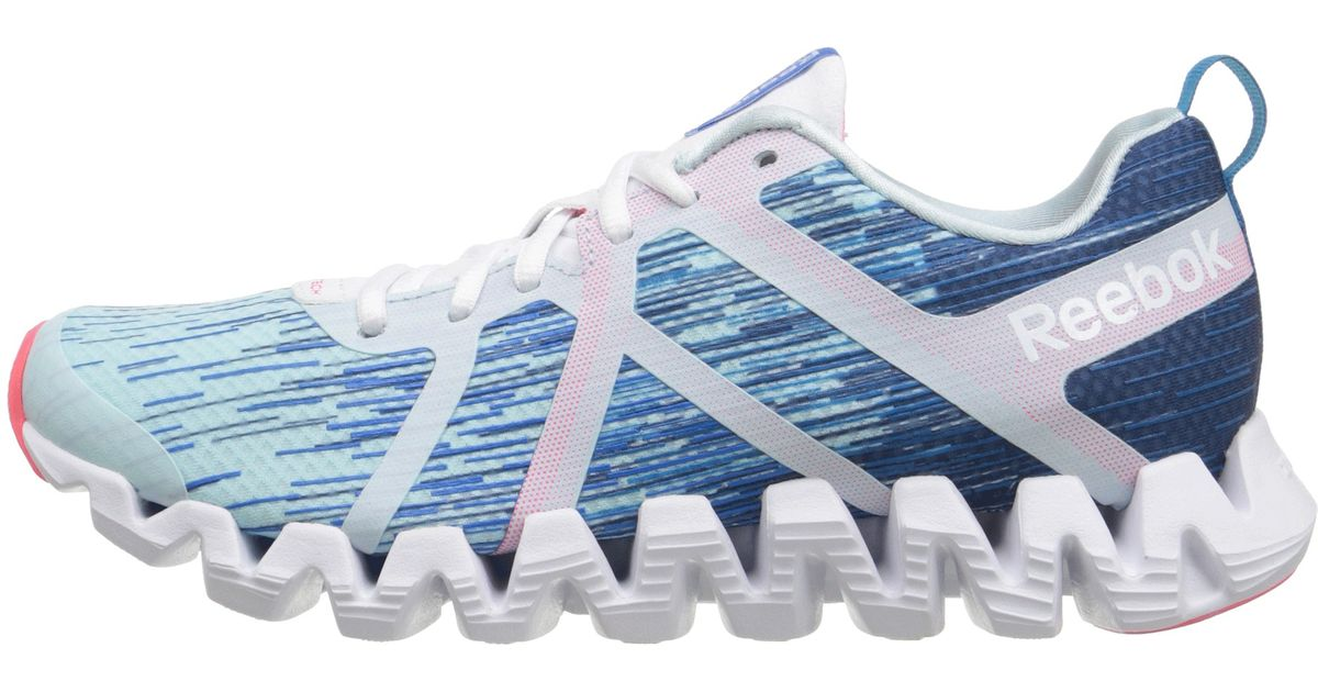 new concept c2164 8d8cf Reebok Zigtech Squared 2.0 in Blue - Lyst