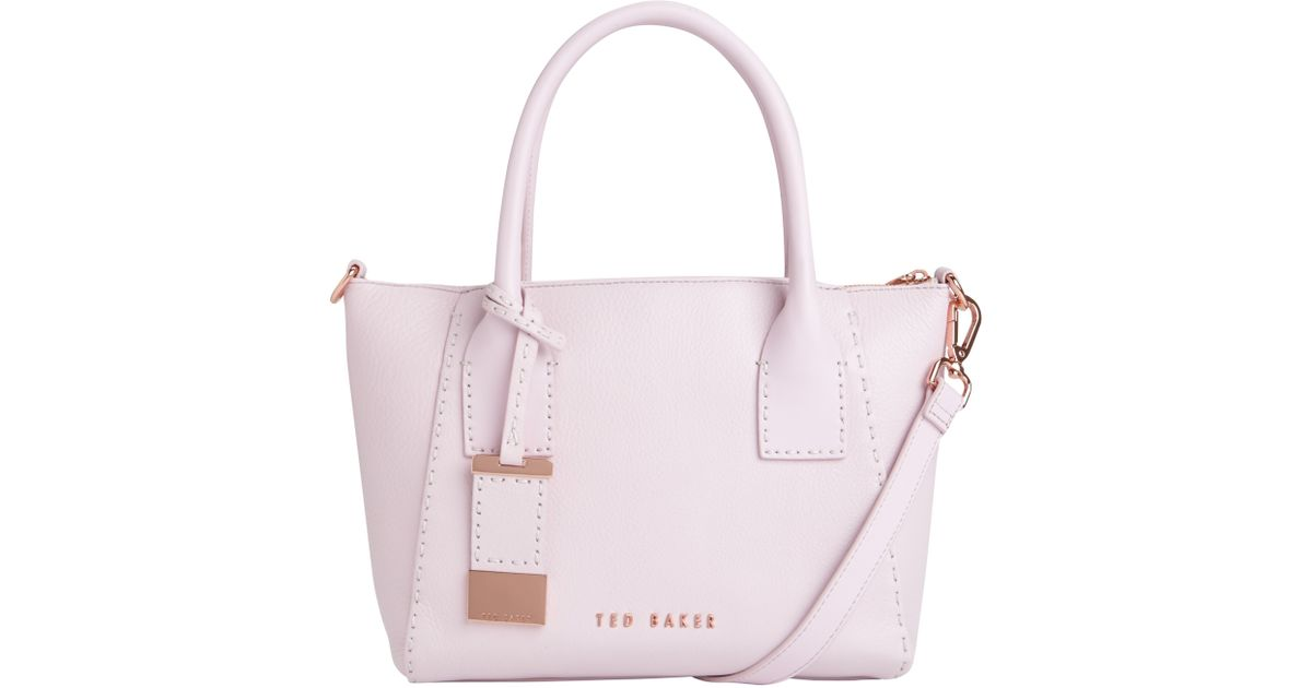 4e882bc0df3c48 Ted Baker Lauren Small Leather Tote Bag in Pink - Lyst