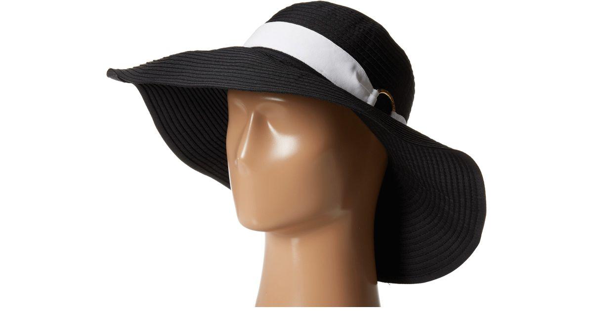 Lyst - Lauren by Ralph Lauren Signature Sun Hat in Black 9d5b07e341e9
