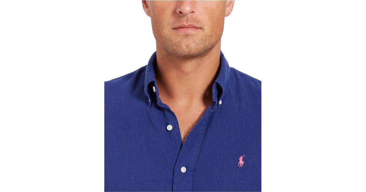 Polo Ralph Lauren Men/'s Big and Tall McQueen Denim Long Sleeve Button Down NWT