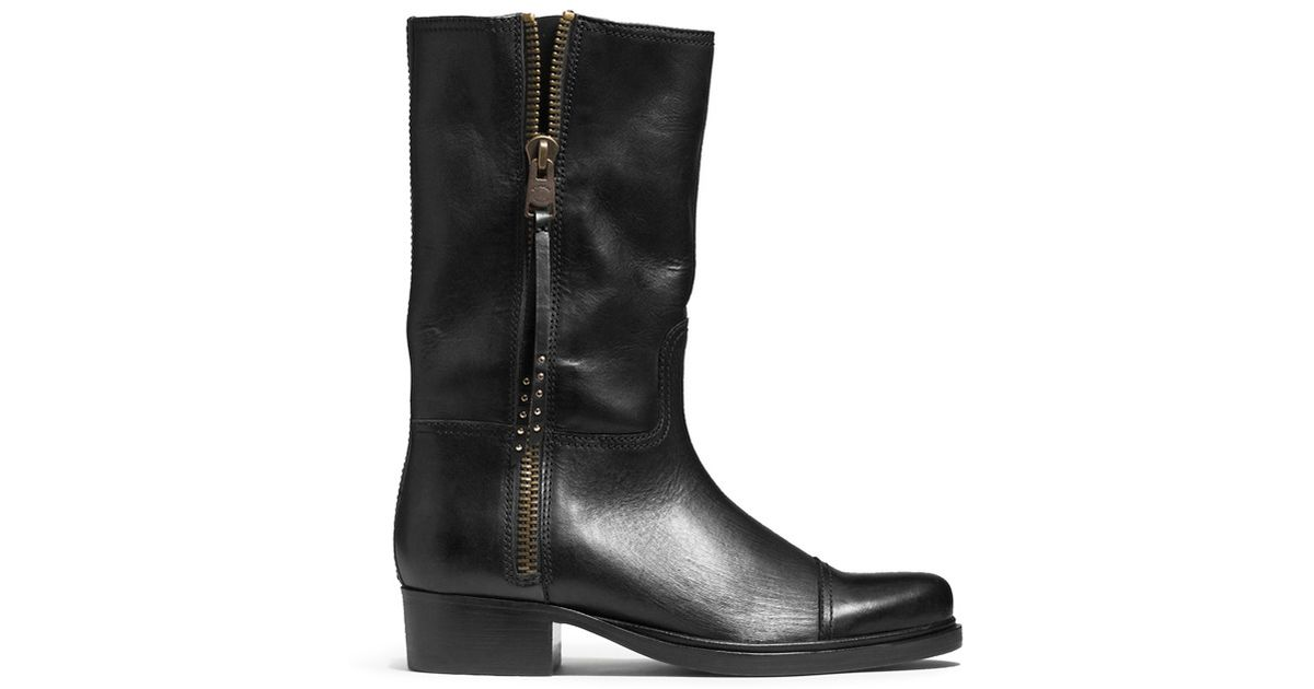 e5540a6730f COACH Black X Blitz 'short Roper' Leather Western Boots