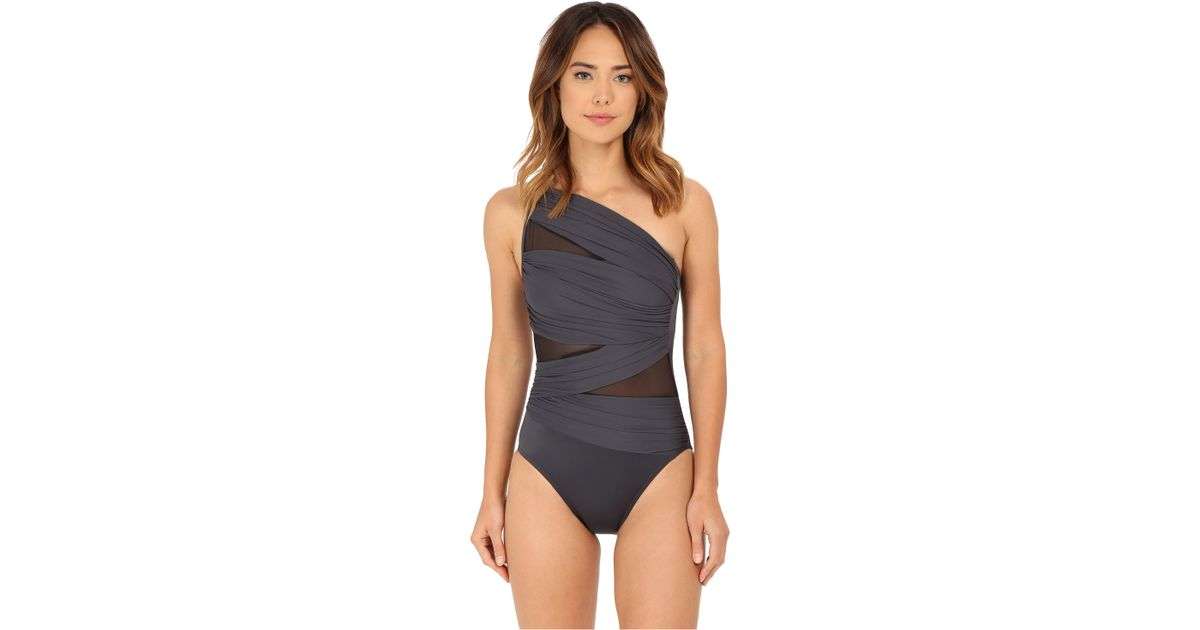 340ff63424a Miraclesuit Network Jena One-piece in Gray - Lyst