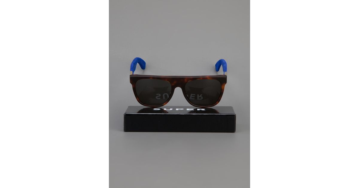 flat top sunglasses  Retrosuperfuture \u0027Flat Top Suede\u0027 Sunglasses in Blue for Men