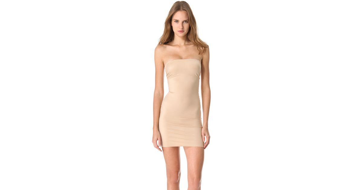 Spanx Nude Strapless Forming Dress Sleeveless Or Full Slip