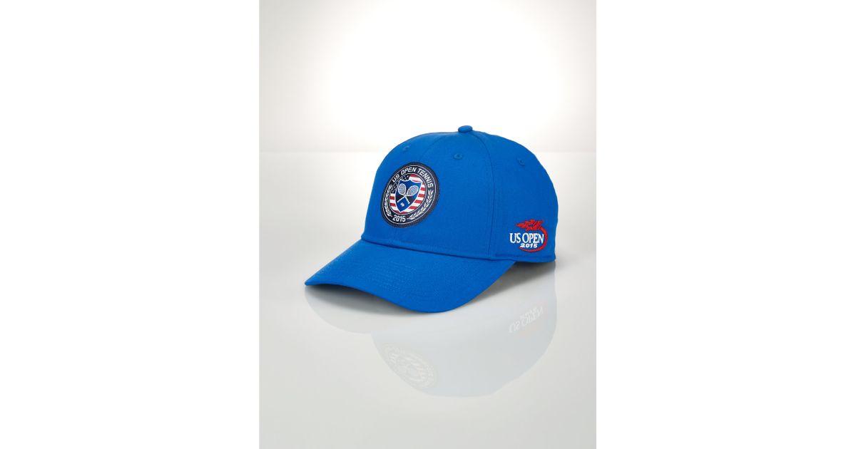 f5241b56 Polo Ralph Lauren Us Open Patch Baseline Hat in Blue for Men - Lyst