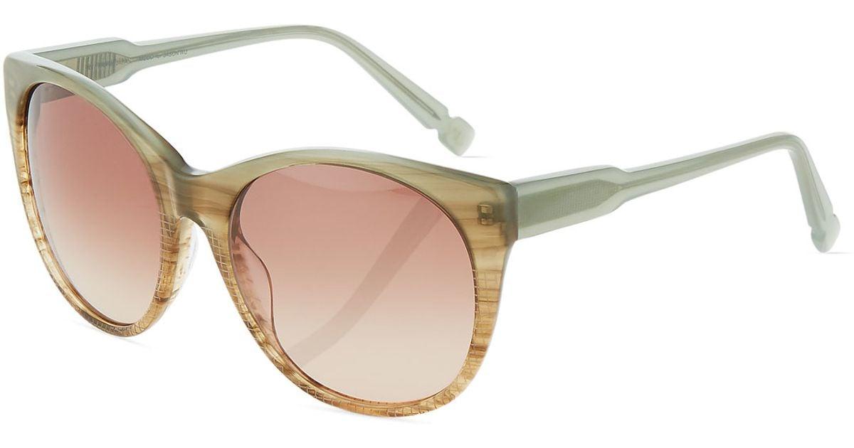 6c1c30a744 Lyst - Jason Wu Petra Two-tone Oversized Cat-eye Sunglasses in Blue