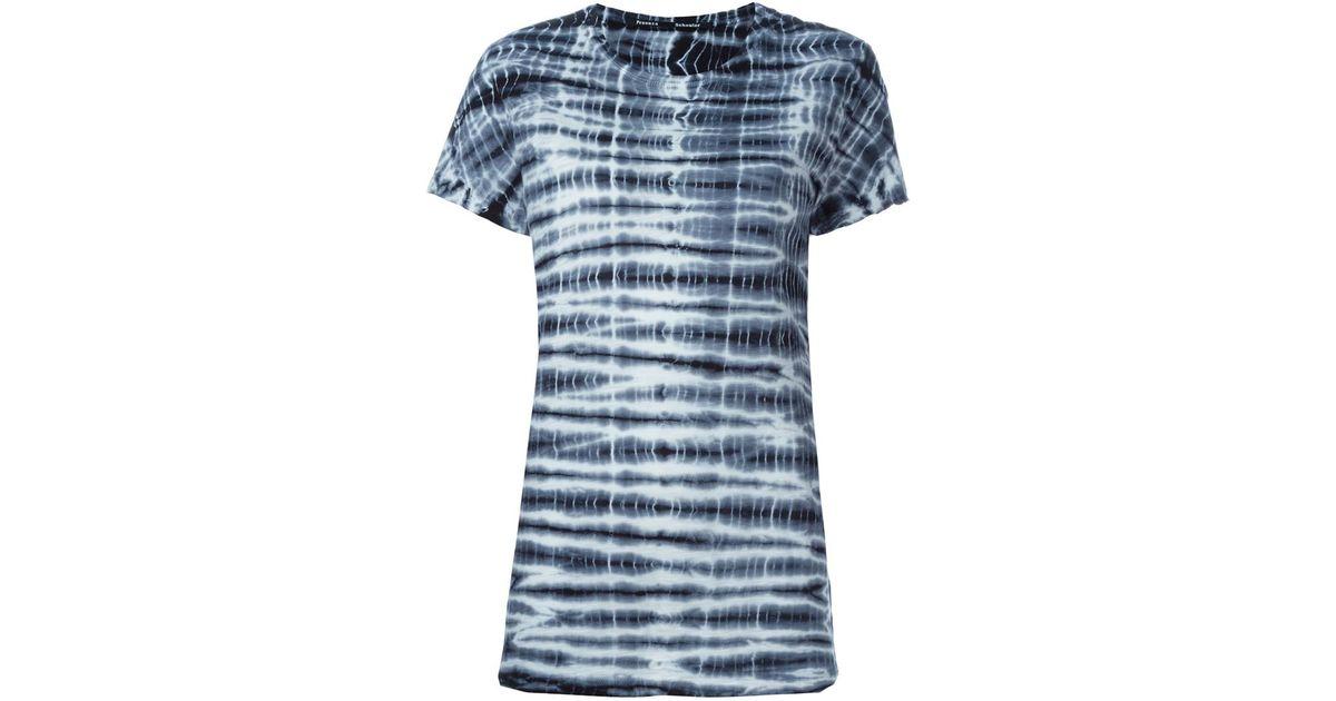 Proenza schouler tie dye t shirt in blue black lyst for Black and blue tie dye t shirts