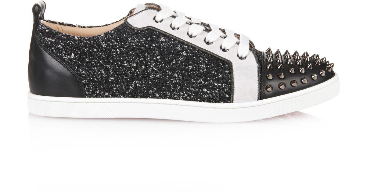 online retailer ca119 d5836 Christian Louboutin Black Gondolaclou Bouclé Low-Top Sneakers for men