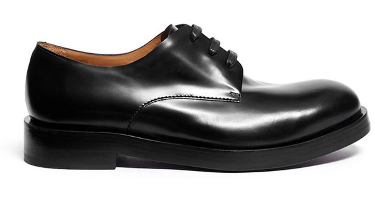 Leather Derby Shoes in Black for Men - Lyst