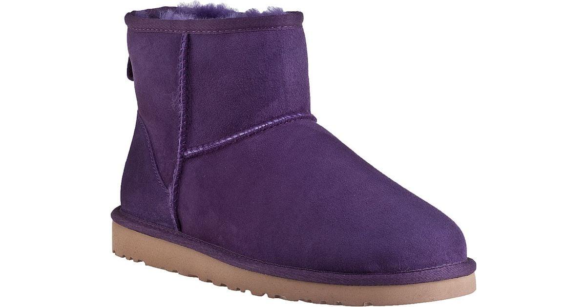 0cc424b782e UGG Classic Mini Boot Purple Violet Suede