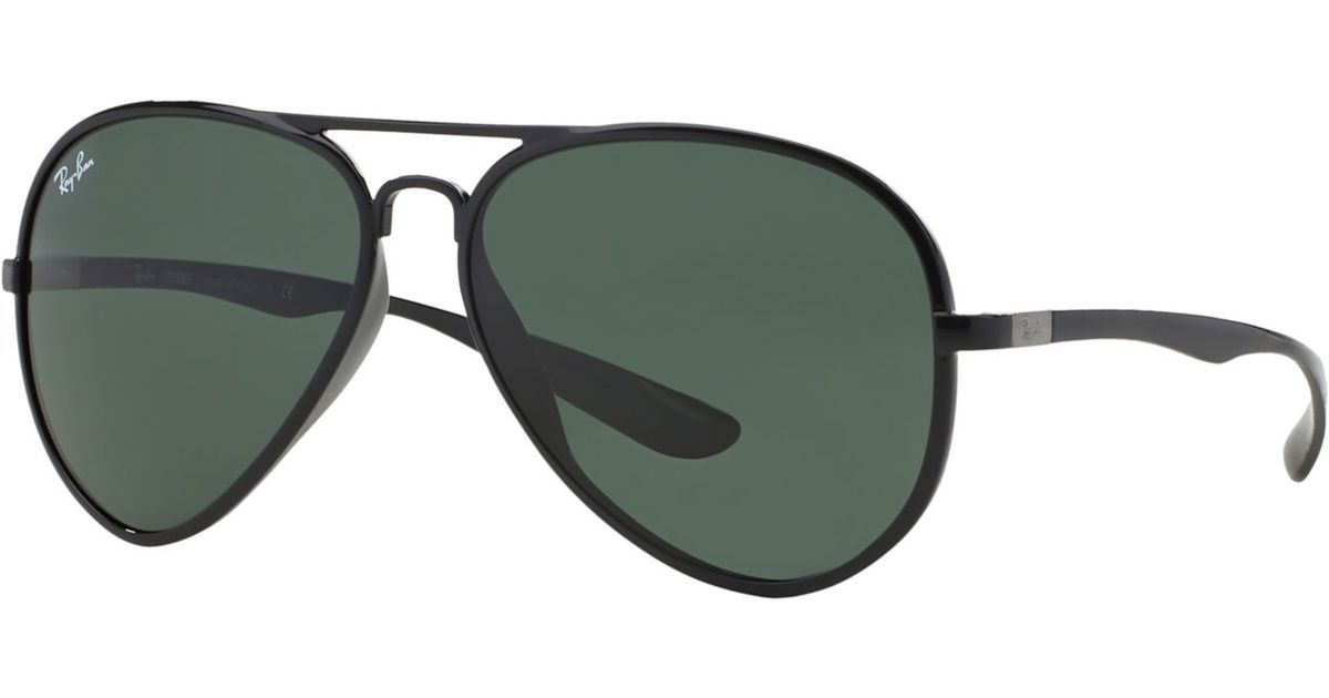 0c21a3e31c7fc ... norway lyst ray ban rb4180 59 aviator liteforce in green for men cb202  64b9f