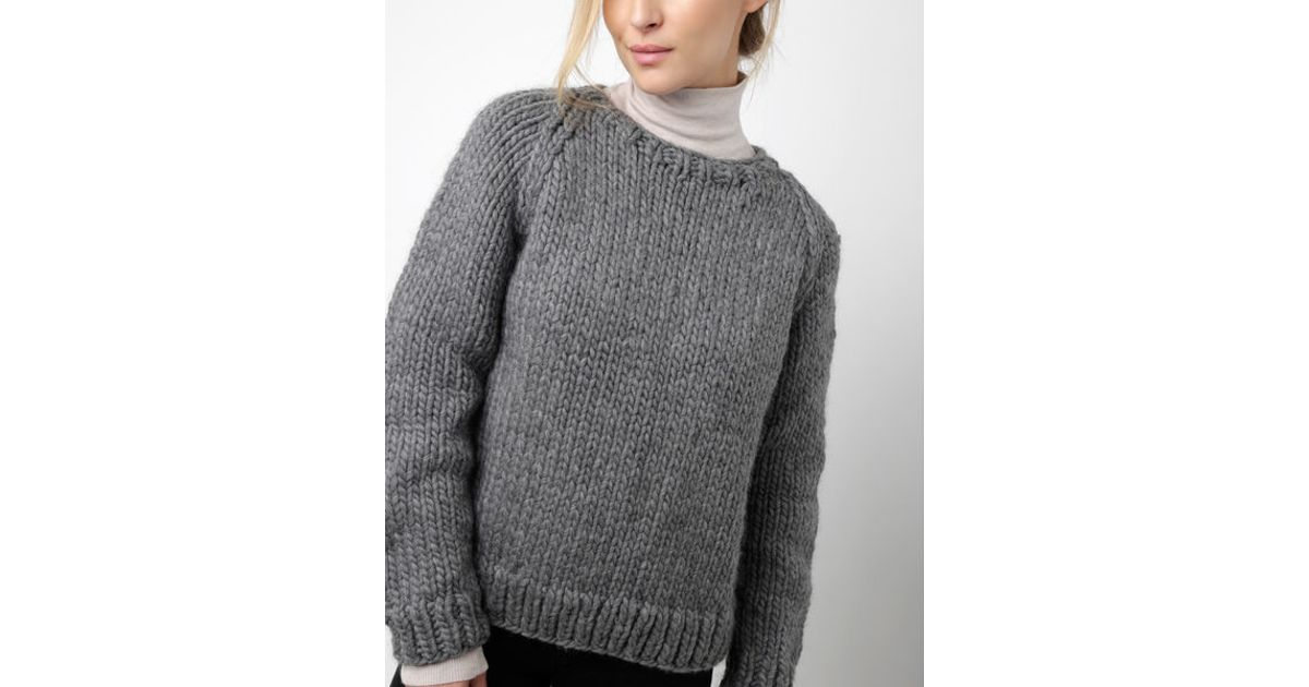 Wool and the gang wes sweater in gray tweed grey lyst - Gang and the wool ...