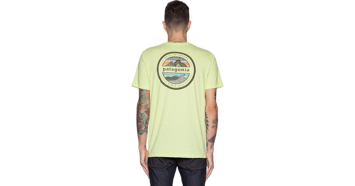 6300d7350a5747 Lyst - Patagonia Rivet Logo T-Shirt in Yellow for Men