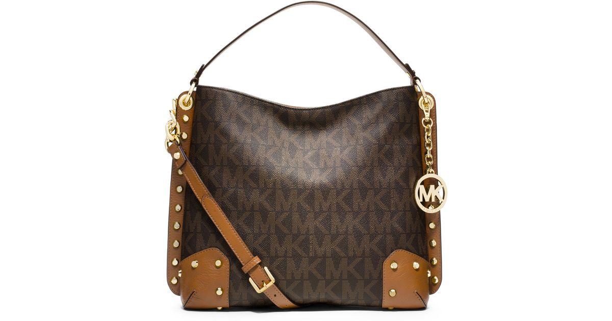 fbe1ace3fa0c36 12345678 8e2fe 835ca; coupon code for lyst michael michael kors medium  serena shoulder bag in brown 150f8 9d6ec