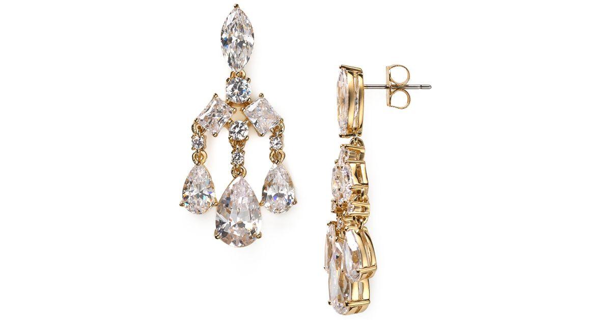 Lyst nadri small chandelier earrings in metallic aloadofball Gallery